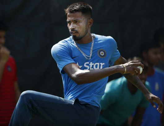 Hardik Pandya in England Test series 2016 - 2017