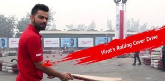 Virat Kohli Unbelievable Accuracy - MRF Rolling Cover Drive