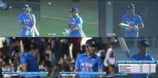 MS Dhoni walks out to bat for last time as a captain